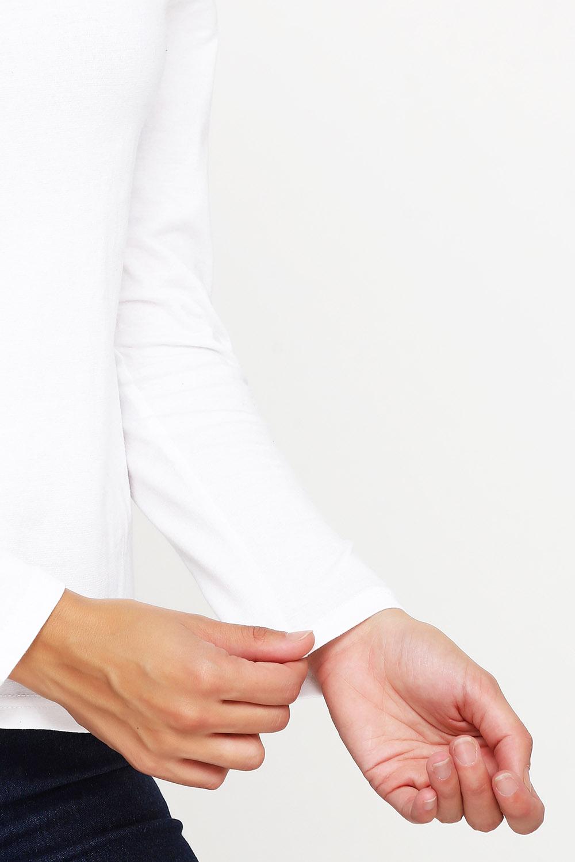 Лонгслив женский белый