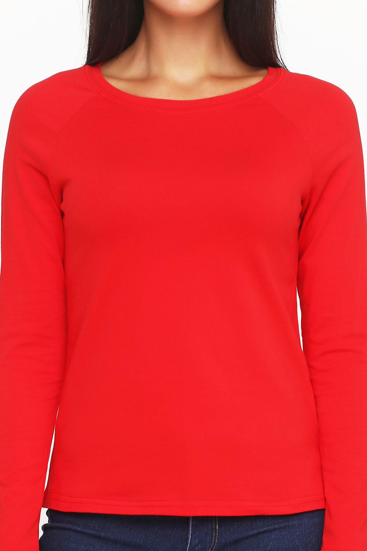 Лонгслив женский Красный