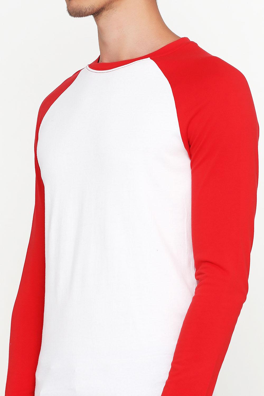Лонгслив мужской Красно-Белый