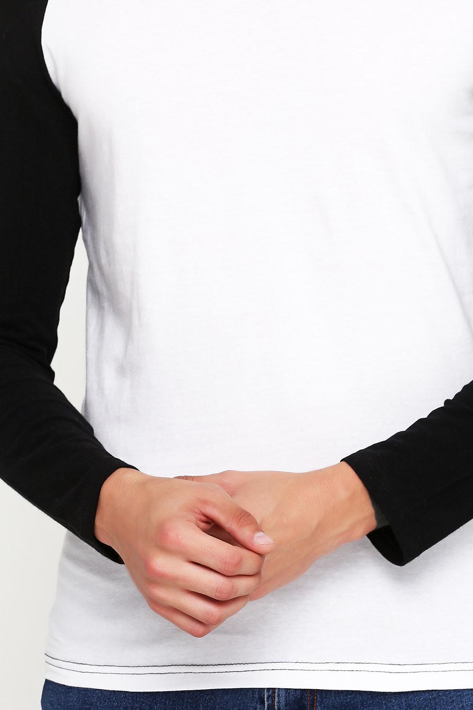 Лонгслив мужской Черно-Белый